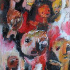 Kinderen der roomse schoot, gemengde techniek op canvas, 60 x 80 cm, 2016