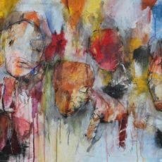 Do your war dance, gemengde techniek op canvas, 115 x 75 cm, 2017