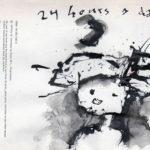 24 hours a day, inkt, pagina uit het kunstenaarsboek Vreemde wereldvreemde wereld