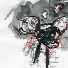"""bomb disneyland, pagina uit het kunstenaarsboek """"vreemde wereldvreemde wereld"""""""