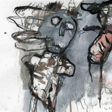 """cowboys are square, pagina uit het kunstenaarsboek """"vreemde wereldvreemde wereld"""""""