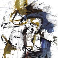 death row nightmare, gemengde techniek op papier, 21 x 29,7 cm, 2008