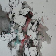 Ich hab keine Lust meine Pflicht zu erfüllen, gemengde techniek op papier, 30 x 40 cm, 2017