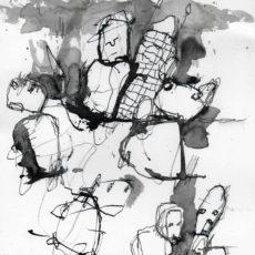 I need a private world, inkt en potlood op papier, 21 x 29,7 cm, 2017