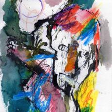 Always on my mind, gemengde techniek op papier, 21 x 29,7 cm, 2017