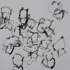 Het traklt in de beschaving (II), inkt op papier, 40 x 30 cm, 2017