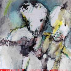 Punk attitude, gemengde techniek op karton, 21 x 29,7 cm, 2017