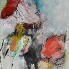 Paranoid, gemengde techniek op papier, 30 x 40 cm, 2017
