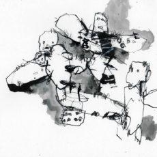 Dead souls, inkt en krijt op papier, 29,7 x 21 cm, 2017