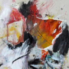 't is jouw schuld, mixed media on paper, 21 x 29,7 cm, 2017