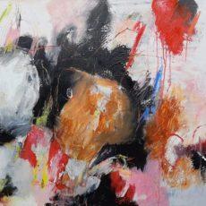 Domoren en dromers, mixed media on canvas, 100 x 70 cm, 2020 v