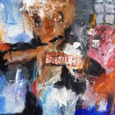 Fragile, mixed media on canvas, 60 x 50 cm, 2020 v