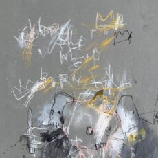 Glory to the newborn king, mixed media on cardboard, 30,2 x 40,6 cm, 2020