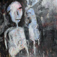 Levende doden, gemengde techniek op canvas, 70 x 90 cm, 2015