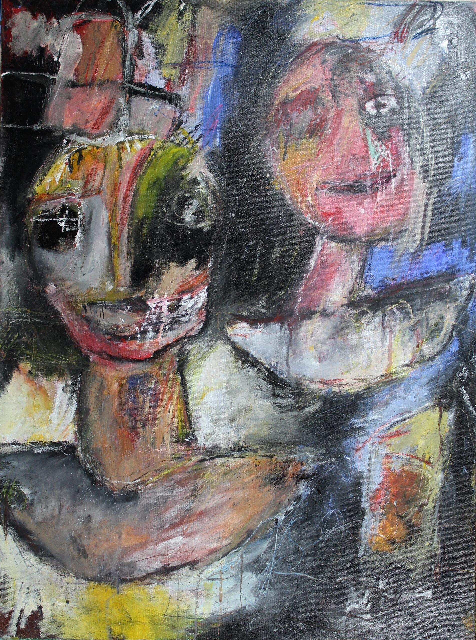 Vrije doorstroming, gemengde techniek op canvas, 60 x 80 cm, 2015