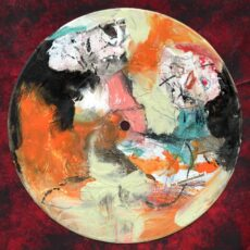 Het menschenraadsel, mixed media on 7 inch vinyl record, 2020