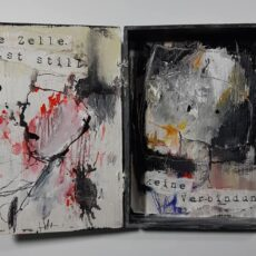 02 I need a private world, mixed media on wood, 13 x 17 x 2,8 cm, 2020