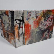 Het zieden, mixed media on wood, 13 x 12 x 4,5 cm, 2021 01