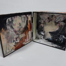Het zieden, mixed media on wood, 13 x 12 x 4,5 cm, 2021 03