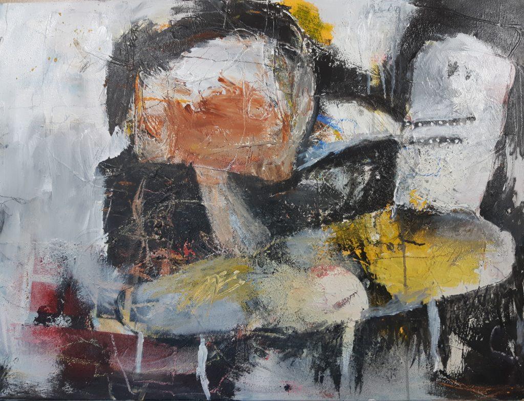 Onbegrip, mixed media on canvas, 80 x 60 cm, 2021